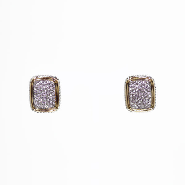 Designer Inspired Pave CZ Earrings