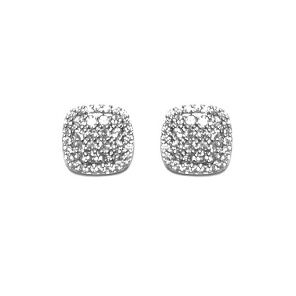 Pave Square Earrings