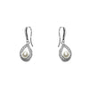 pearl fishhook pave earrings on sale
