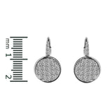 Pave Round Earrings