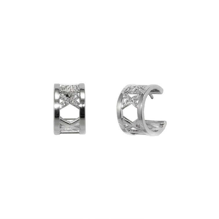 Designer Roman Numeral Earrings