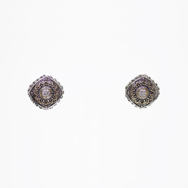 Designer Inspired Locket Earrings with CZ Diamonds
