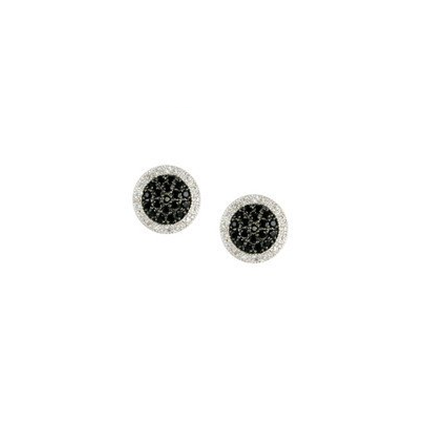 Halo Black Micro Pave Earrings