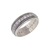 Burnished Designer Eternity Band