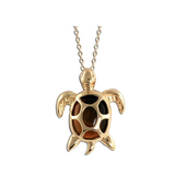Gold Sea Turtle Tiger's Eye Necklace