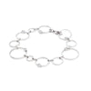 Designer Inspired Open Circle Bracelet with CZ Diamond Accents