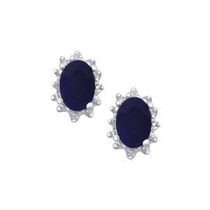 Designer Blue Sapphire Earrings