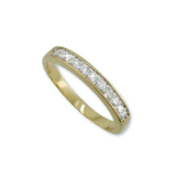 Channel Set 11 Stone Half Eternity Band In Gold