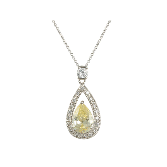 Canary Teardrop Necklace