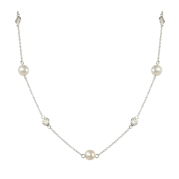 Pearls By The Inch Embellishment Necklace