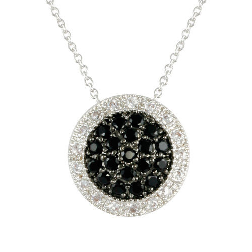 Halo Black Pave Necklace
