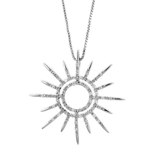 Sunburst Silver Necklace