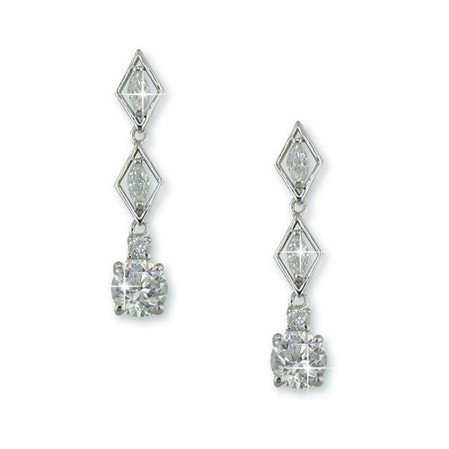 Marquise Cut CZ Wedding Drop Earrings with 5AAA Stone Pendant
