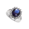 Royal Sapphire Engagement Ring