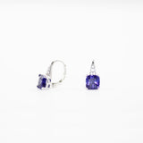 Simulated tanzanite pave earrings