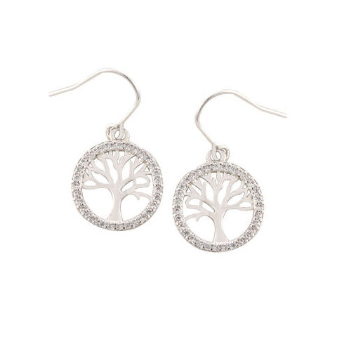 Tree of Life Fish Hook Earrings