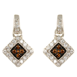 Chocolate Pave Present Style Earrings