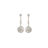 Halo Drop Earrings w/ Pave