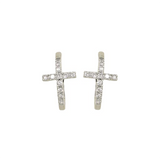 Cross Hoop Earrings