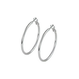 Rodium Hoop Earrings