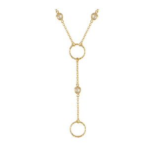 Gold and CZ By the Inch  Designer Dangle Necklace