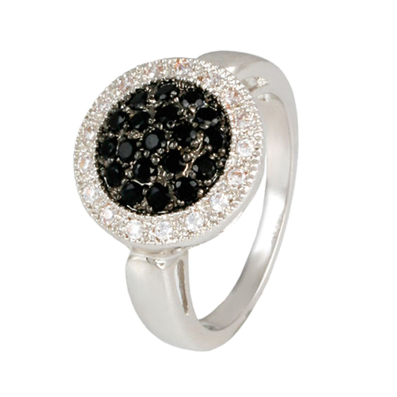 Halo Black Micro Pave Ring