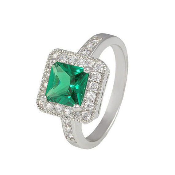 Emerald square cut