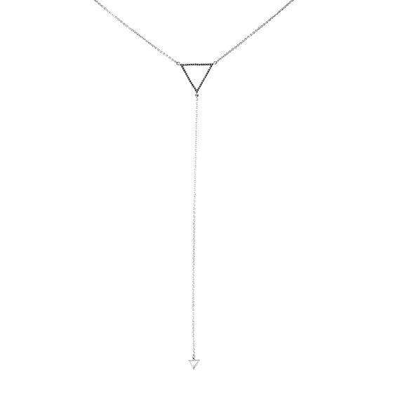 Minimalist Triangle Drop Necklace