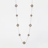 "Love Knot 36"" Station Necklace in Mother of Pearl"