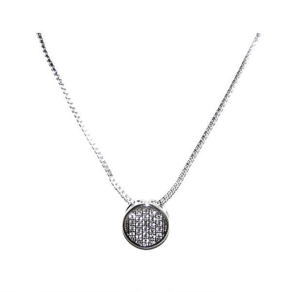 Moving Round Pave Necklace