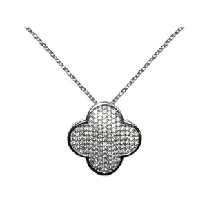 Designer Pave Clover Necklace
