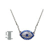 Blue Evil Eye Pave Necklace