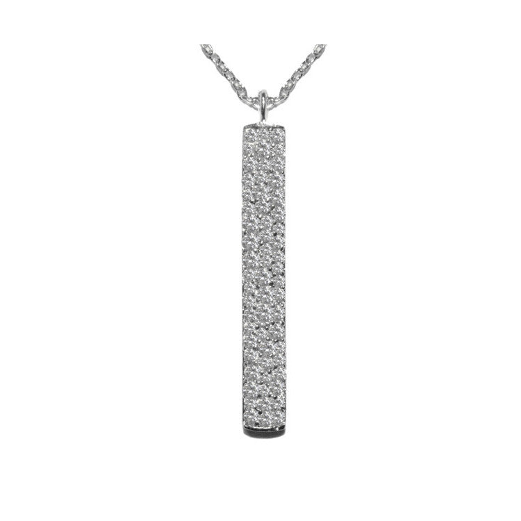 Bar Necklace w/Pave