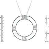 Designer Roman Numeral Open Necklace
