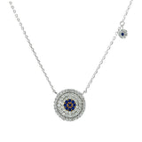 Designer Halo Turkish Eye Necklace