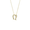 horseshoe necklace in gold