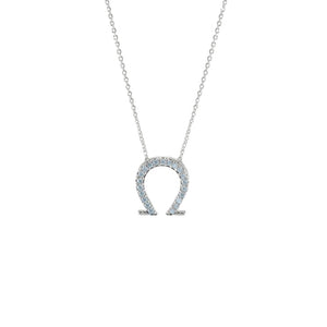 horseshoe necklace in silver