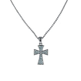 Celtic Pave Cross Pendant Necklace