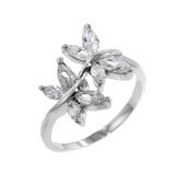 8 Marquise Cut Butterfly Ring
