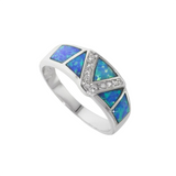 Synthetic Blue Opal Ring