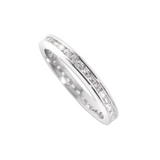 Silver Channel Set Eternity Ring