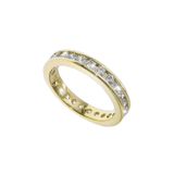 VERMEIL CHANNEL SET ETERNITY RING