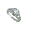 Halo Round Cut Pave Split Shaft Ring