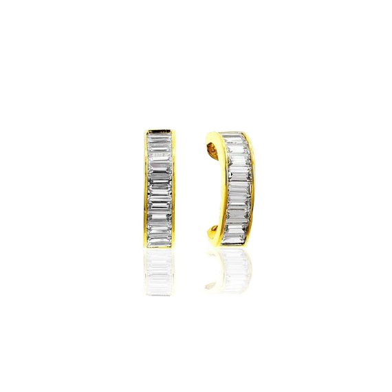 Vermeil Jacobs Ladder Earrings with Channel Set Baguettes