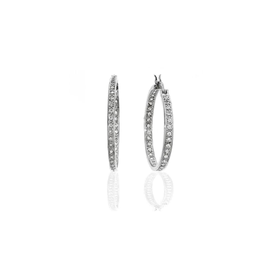 Silver Catwalk Hoops