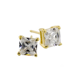Vermeil Princess Cut Studs