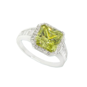 Peridot Cushion Ring