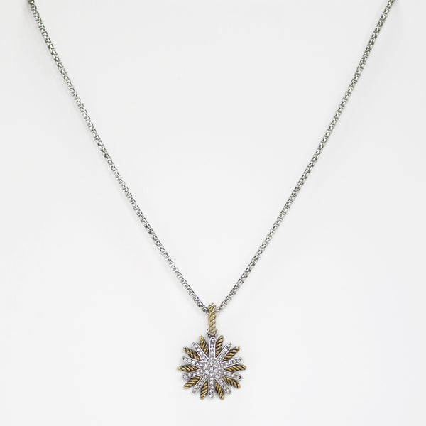Pave Starburst Designer Inspired Necklace