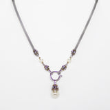 Pearl Choker Designer Inspired Front Closure Pendant Necklace