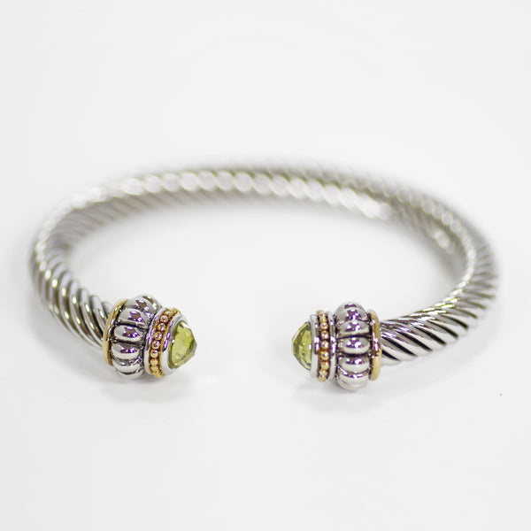 Peridot Designer Inspired Bangle